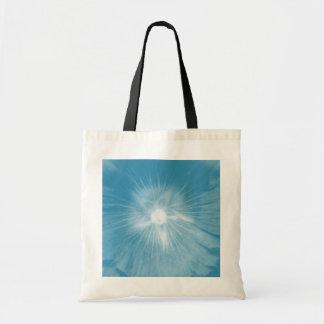 La bolsa de asas azul helada del presupuesto de la