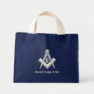 La bolsa de asas azul masónica de la casa de campo