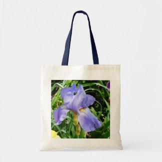 La bolsa de asas barbuda púrpura de la flor del ir