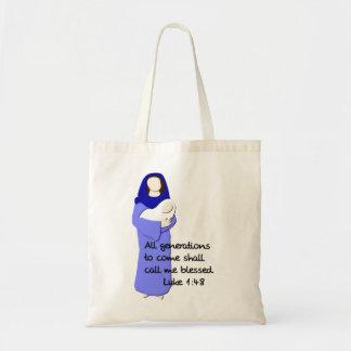 La bolsa de asas bendecida del Virgen María