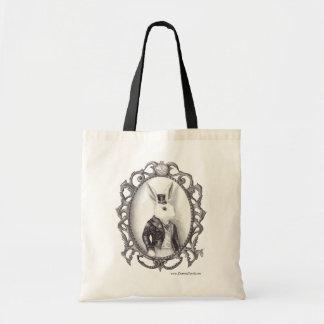 La bolsa de asas blanca Alicia del conejo en la