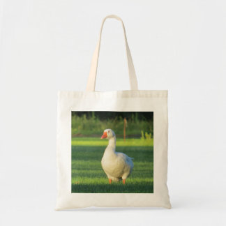 La bolsa de asas blanca del ganso