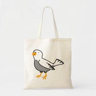 La bolsa de asas blanca del pájaro