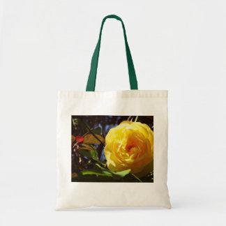 la bolsa de asas bonita con el rosa amarillo