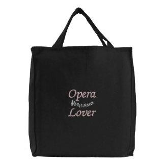 La bolsa de asas bonita del amante de la ópera