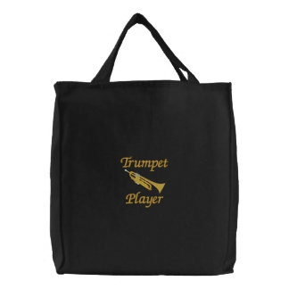 La bolsa de asas bordada del jugador de trompeta