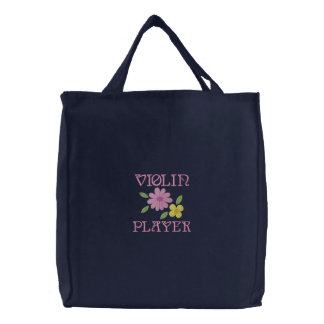 La bolsa de asas bordada del jugador del violín