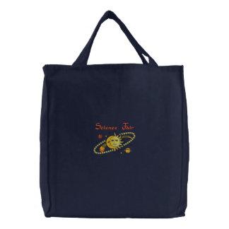 La bolsa de asas bordada personalizable de la cien