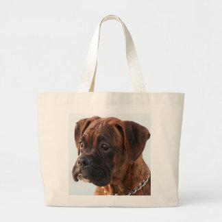 La bolsa de asas Brindle del perrito del boxeador