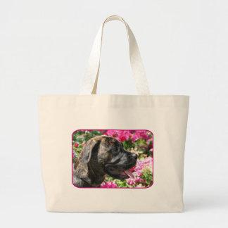 La bolsa de asas Brindle del perrito del mastín