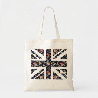 La bolsa de asas británica floral de la bandera