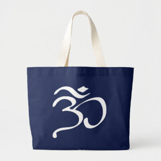 La bolsa de asas budista del símbolo de OM (Aum)