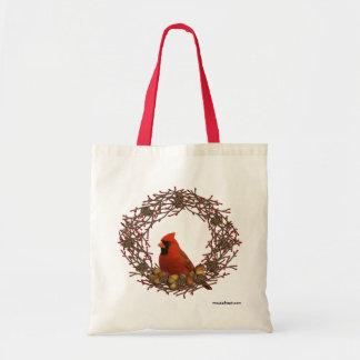 La bolsa de asas cardinal de la guirnalda