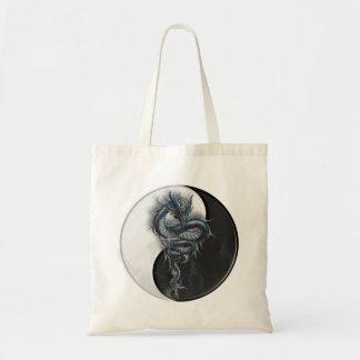 La bolsa de asas china del dragón de Yin Yang