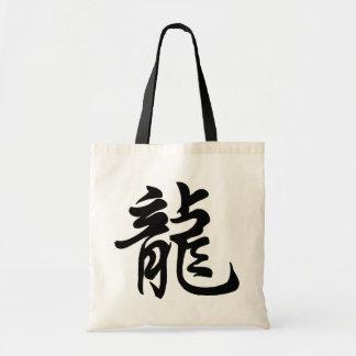 La bolsa de asas china del símbolo de la muestra