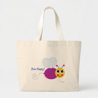 "La bolsa de asas clásica feliz de la abeja de la """
