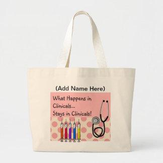 La bolsa de asas clínica del instructor de la enfe