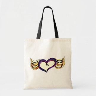 La bolsa de asas coa alas del corazón