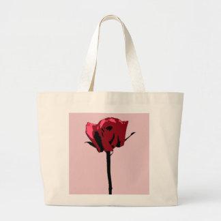 La bolsa de asas color de rosa del arte