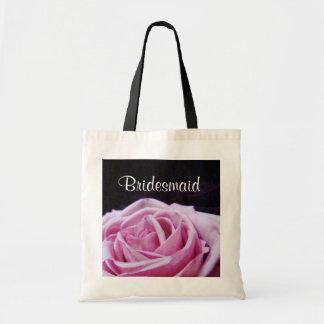 La bolsa de asas color de rosa rosada de la dama d