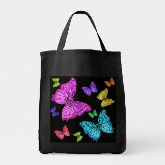La bolsa de asas colorida de las mariposas