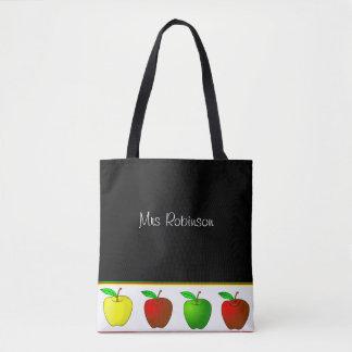 La bolsa de asas colorida de los profesores de las