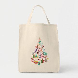La bolsa de asas colorida del árbol del día de fie