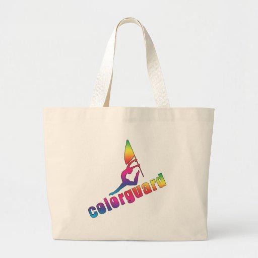 La bolsa de asas colorida del colorguard