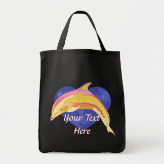 La bolsa de asas colorida del delfín