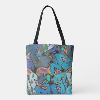 La bolsa de asas colorida del diseño de la pintada