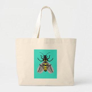 La bolsa de asas con arte colorido de la abeja