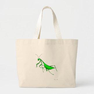 La bolsa de asas con arte de la mantis religiosa