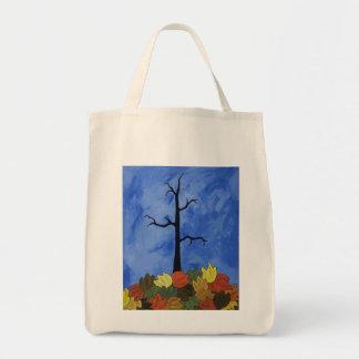 La bolsa de asas con el árbol de la caída de Autum