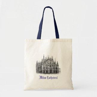 La bolsa de asas con el dibujo de la catedral de