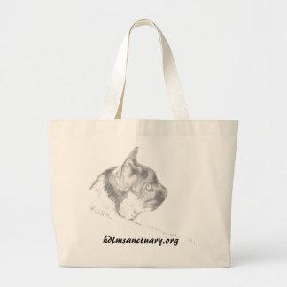 La bolsa de asas con el dibujo del gato