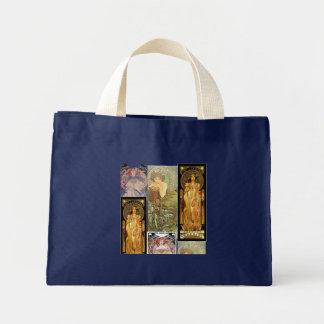 La bolsa de asas con el diseño de Alfonso Mucha