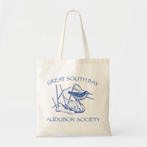 La bolsa de asas con el logotipo azul