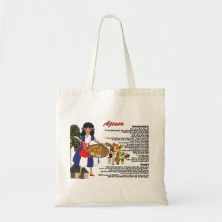 La bolsa de asas con la receta - inglés de Ajiaco