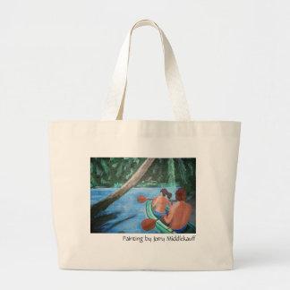 La bolsa de asas con los pares en canoa