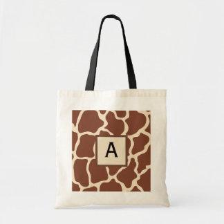 La bolsa de asas con monograma de la jirafa