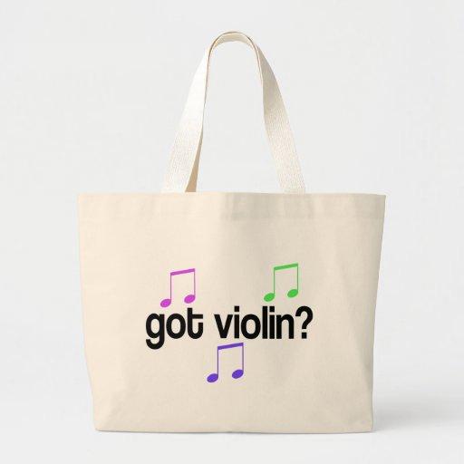 La bolsa de asas conseguida de la música del violí