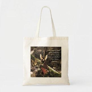 La bolsa de asas cristiana de hadas de la cita de