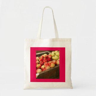 La bolsa de asas cuadrada de las manzanas de la