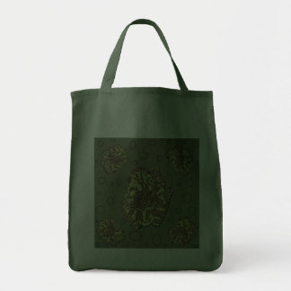 La bolsa de asas cubierta de musgo de la rana