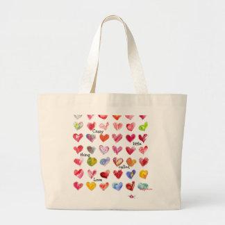 La bolsa de asas de 36 corazones de la tarjeta del