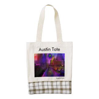 La bolsa de asas de Austin Bolsa Tote Zazzle HEART