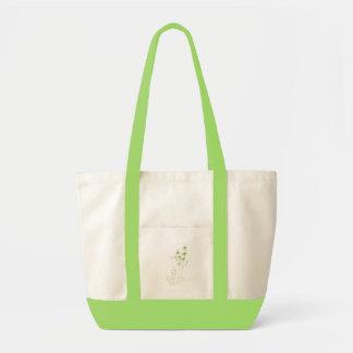 La bolsa de asas de bambú