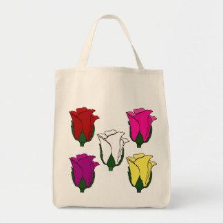 La bolsa de asas de cinco rosas