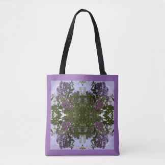 La bolsa de asas de color de malva del fractal de
