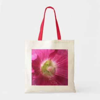 La bolsa de asas de color rosa oscuro del Hollyhoc